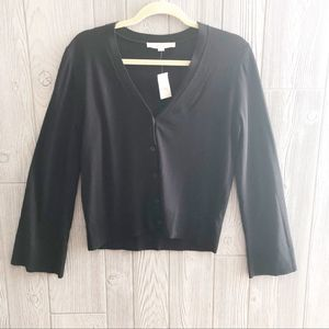 Loft • NWT Black Viscose Cardigan